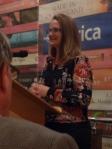 Meg Vann, QWC CEO, launching Hustling Hinkler at Riverbend Books, Brisbane