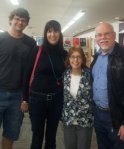 with local author Sandy Curtis (r), Helen Dyer CQU & husband Matt at Bundaberg Library