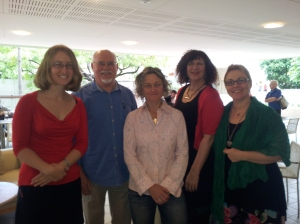 From left: Nicola Alter, Darryl Dymock, Inga Simpson, Adair Jones, Edwina Shaw