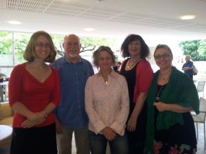 From left: Nicola Alter, Darryl Dymock, Inga Simpson, Adair Jones, Edwina Shaw