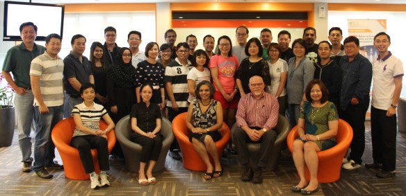 With Assoc Prof Sarojni Choy and Singapore students July 2015