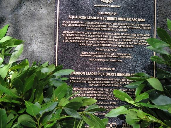 Bert Hinkler Memorial, Mt Pratomagno, Italy
