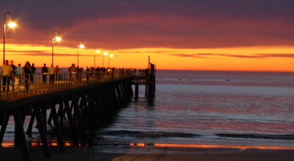 Glenelg Jetty Adelaide 8pm in mid-October